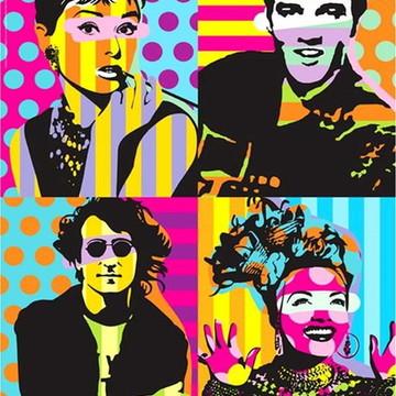 Quadro Retro Arte Pop Celebridades