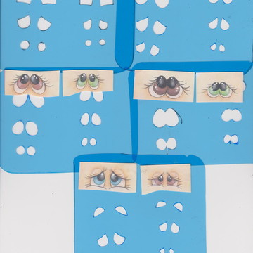 kit 5 pares de olhos em dois tamanhos, para boneca