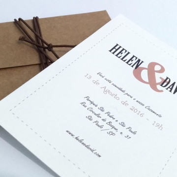 Convite de Casamento Vintage 02