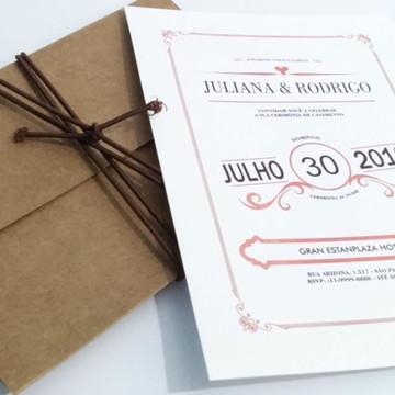 Convite de Casamento Vintage 01