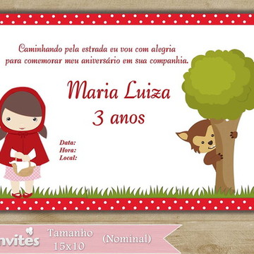 Convite Chapeuzinho Vermelho (352)