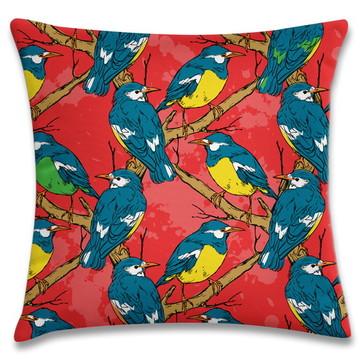 capa de almofada Pássaros Azuis