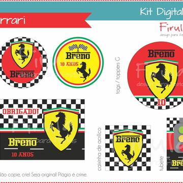 Kit Festa Digital Ferrari