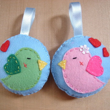 Chaveiros passarinhos