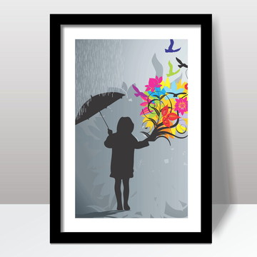 Quadro Decorativo Rain Flowers