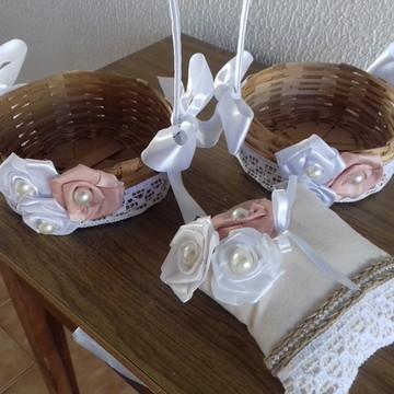 kit casamento rústico chic 3 PEÇAS