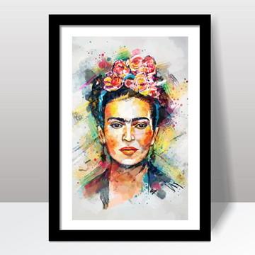 Quadro Frida Kahlo com Moldura