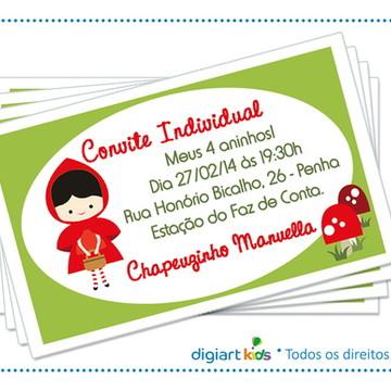 Convite individual Chapeuzinho Vermelho