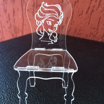 Lembrancinhas Acrílico Cristal Mini Cadeirinhas Festa FROZEN