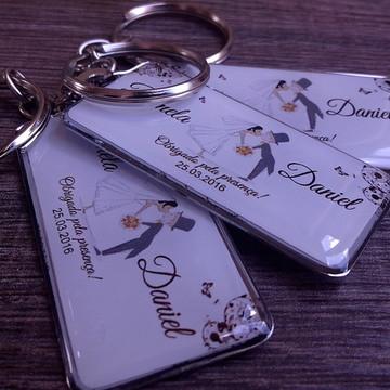 Chaveiro Personalizado p/casamento bodas, noivado, empresa