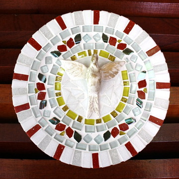 Mandala Divino Espírito mosaico Red 20