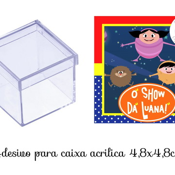 Adesivo Caixa Acrilica Show da Luna