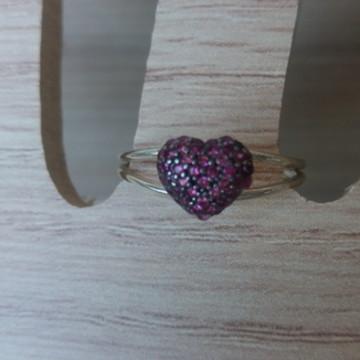Anel de prata com zirconias - aro 17