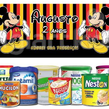 Rótulo para Lata de Leite Mickey