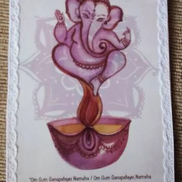 """Plaquinha """"Ganesha"""""""