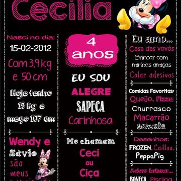 Chalkboard Festa Minnie Rosa