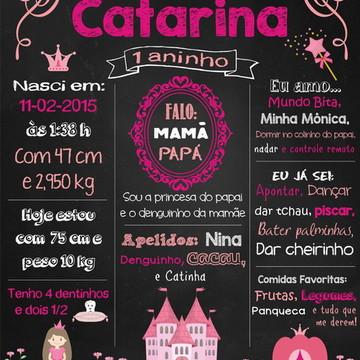 Chalkboard Festa Princesas