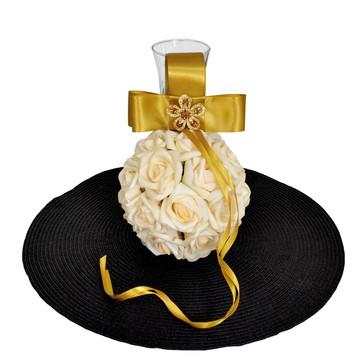 Porta Aliança Casamento Champanhe