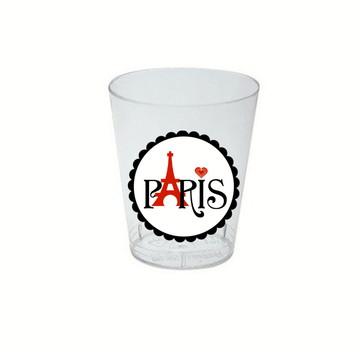 10 Copinhos para doces Tema Paris
