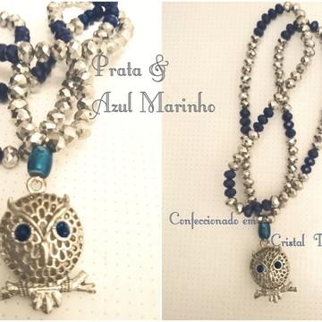 Japamala Prateado e Azul