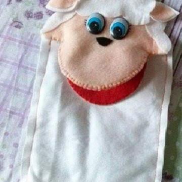 Fantoche de Ovelhinha com Boca articulada