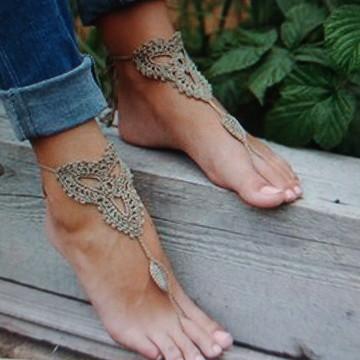 Sandália descalça marron (Preço do par)