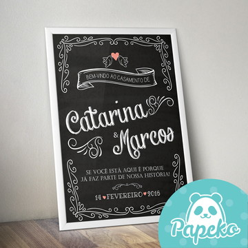 Chalkboard Casamento IMPRESSO