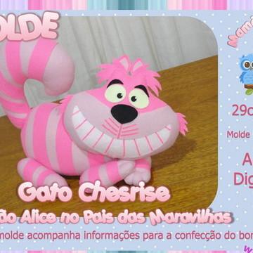 Molde Gato - Alice Pais das Maravilhas