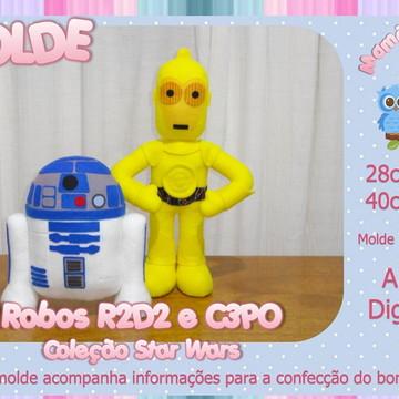 Moldes dos Robos R2D2 e C3PO - Star Wars