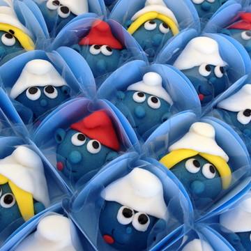 Doces Modelados Smurfs