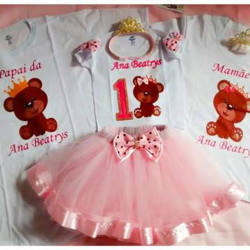 e707d13715 Conjunto de tule urso rosa