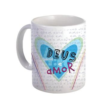 Caneca de Cerâmica Deus é Amor 0097