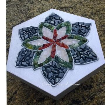 Caixa Mandala pedras semi preciosas