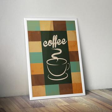Poster Coffee com moldura