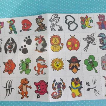 Tatuagem temporária mod 9 - animais