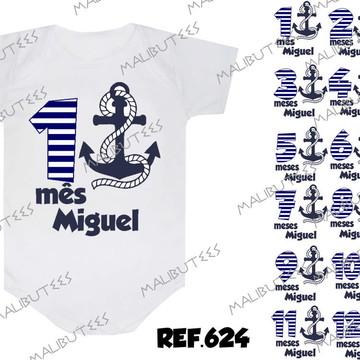 d5c64f6a79 Roupinha de Bebe Body Infantil Marinheiro