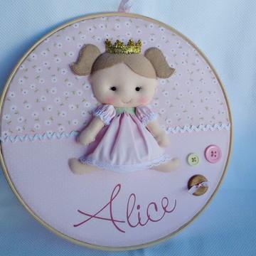 Quadro Porta Maternidade Boneca Princesa