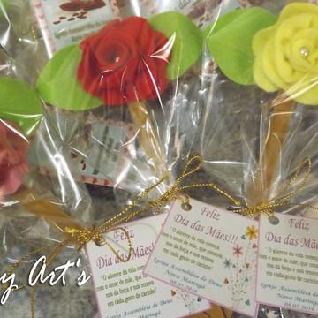 20 Lixas decoradas c/ flor de feltro e p