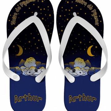 Chinelo Festa do Pijama Snoopy