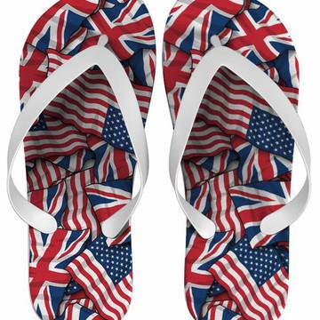 Chinelo Estados Unidos e Inglaterra