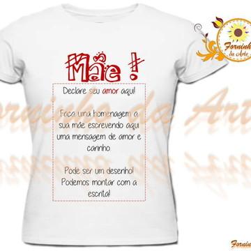 c31085ea35 Camisetas Personalizadas com a Escrita
