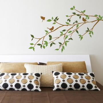 Adesivo Floral para cabeceira de cama