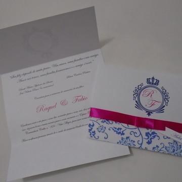 Convite Casamento Brasão
