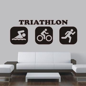 Adesivo decoração de parede Triathlon