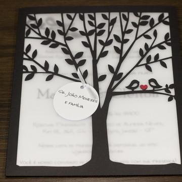 Convite de Casamento Árvore - Fortaleza