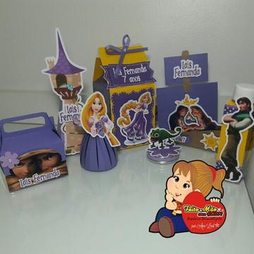 kit festa rapunzel - enrolados
