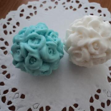 Mini esfera de sabonete floral