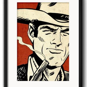 Quadro Cowboy Pop Art com Paspatur