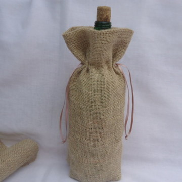 Saco de juta para garrafas 750 ml