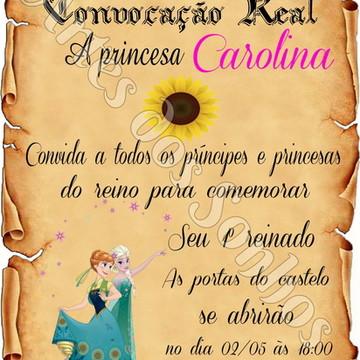 Convite Pergaminho frozen fever